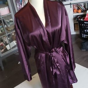 Victorias Secret Small Satin Robe Purple